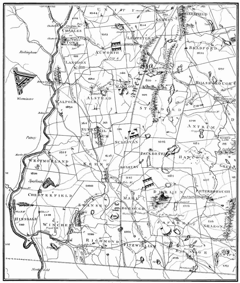 Map Cheshire County Cheshire County History - New hampshire county map