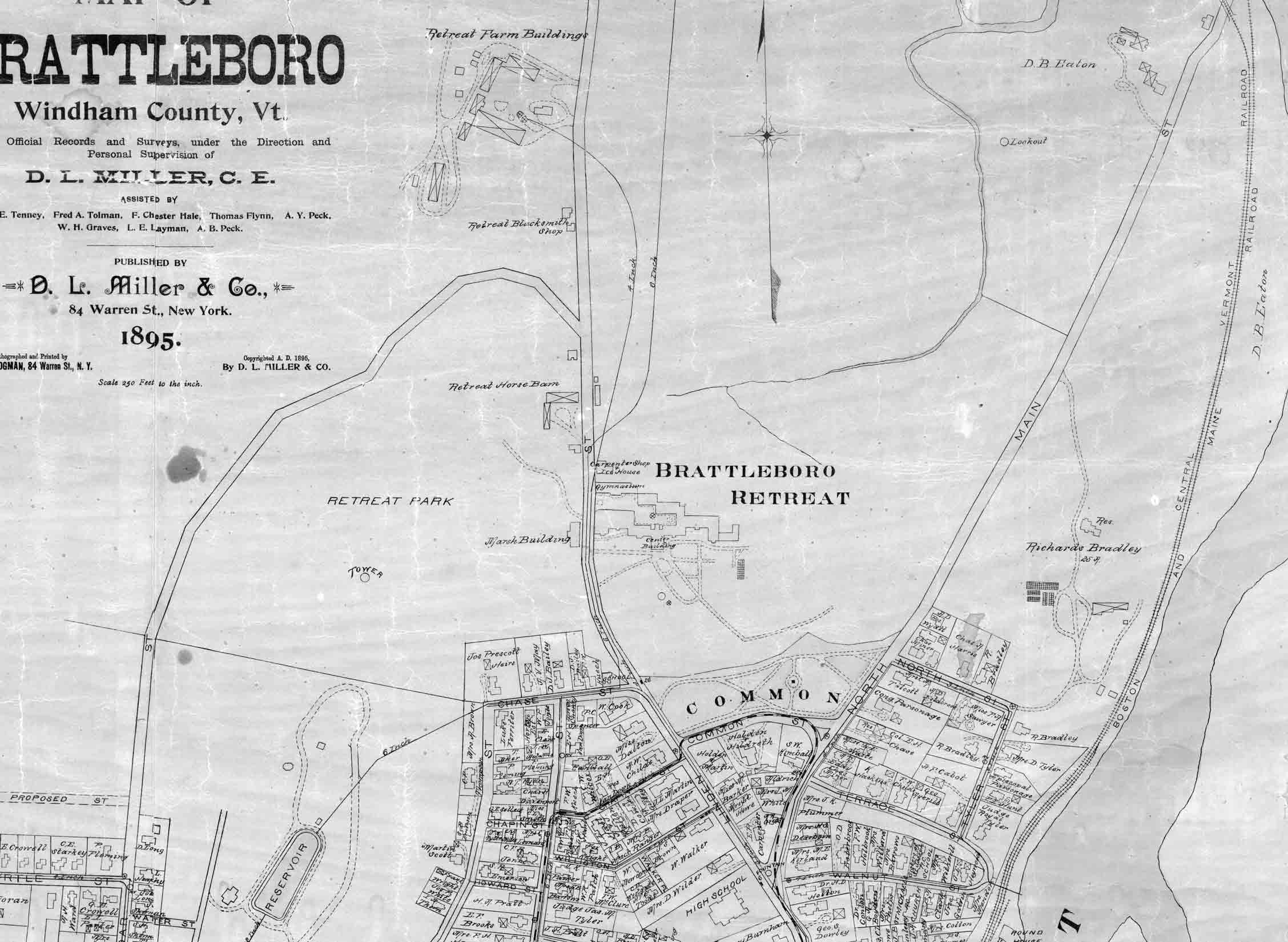 7c Land Ownership Maps DOWNTOWN 1895 Brattleboro History